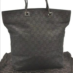 AUTHENTIC Black Gucci large tote